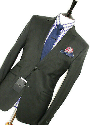 Bnwt Mens Ted Baker Endurance London Charcoal Grey Slim Fit Suit 38R W32