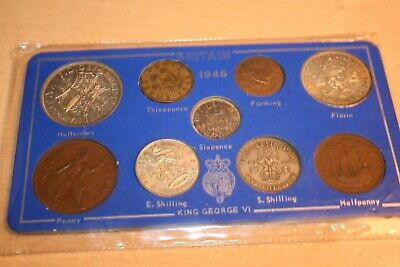 1946 United Kingdom coins Proof Set Royal Mint silver coins