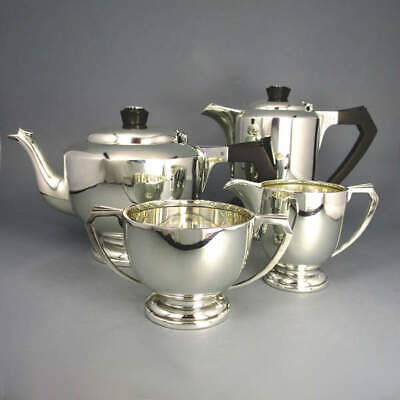 Art Deco Tea Coffee Set 4teilig Silver