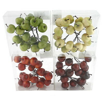 20x Decor Apple on Wire, Small 3cm in Box, Artificial, Fruits