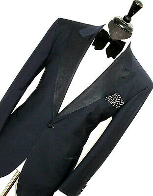 Mens Brioni Bespoke Sartorial Tuxedo Dinner Navy Slim Fit Suit 42R W36 X L32