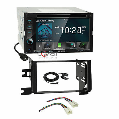 Kenwood DVD BT Sirius Carplay Stereo Dash Kit Harness for 07+ Toyota FJ Cruiser