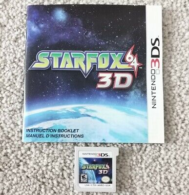 Star Fox 64 3D (Nintendo 3DS) Cart & Manual EXCELLENT CONDITION