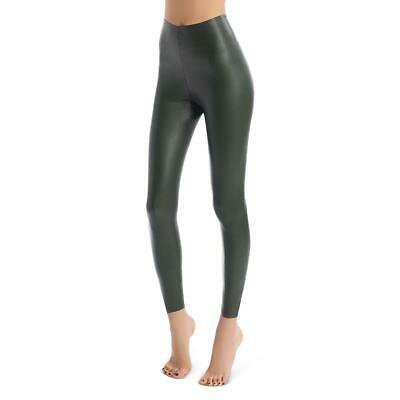 Commando Womens Green Faux Leather High Rise Pull On Leggings S BHFO 8095