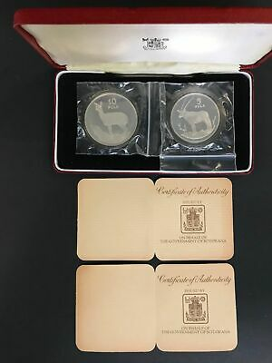 1978 Botswana  ConservationSilver 2 Coin Proof Set, with COA, The Royal Mint  m2