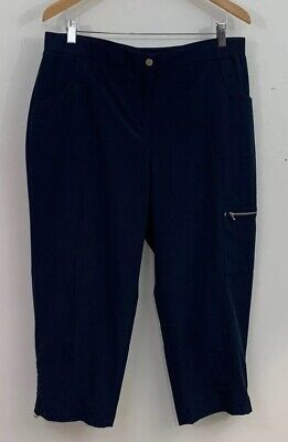 Zenergy By Chico's Women's Blue Cropped Cargo Style Pants Size 2 (L)