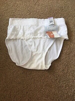 Vintage Panties Underwear High Cut Lace Wast Nylon XL Cupid