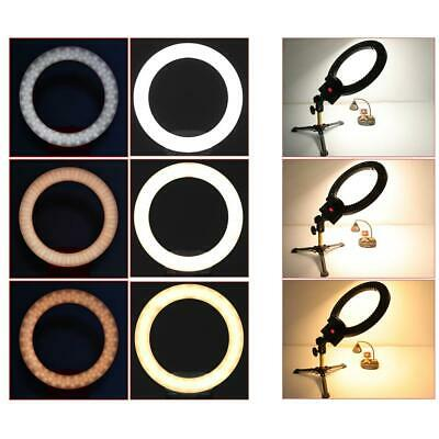 "New 12"" Dimmable LED Ring Light Kit with Tripod 6000k Camera Photo Video Black"