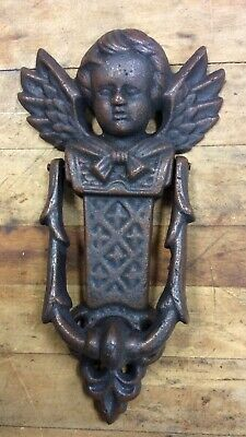 Vintage Style Cast Iron Cherub Angel Door Knocker