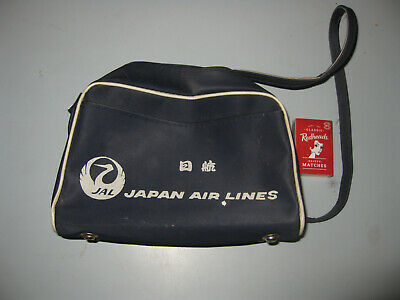 Vintage JAL JAPAN AIRLINES CARRY BAG travel plane Circa 1960's