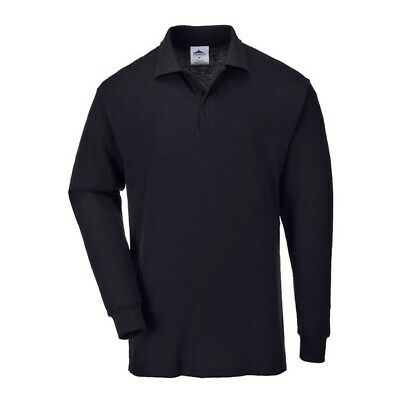 496 Genoa Long Sleeved Polo Shirt Large B212BKRL Portwest Top Quality Product