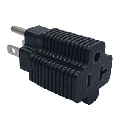 Household electrical adapter NEMA 5-15P male to NEMA 5-20R female adapter 15-FEH