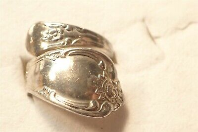 Grandmas 925 Sterling Silver Old Pawn Spoon Big Chunky Ring