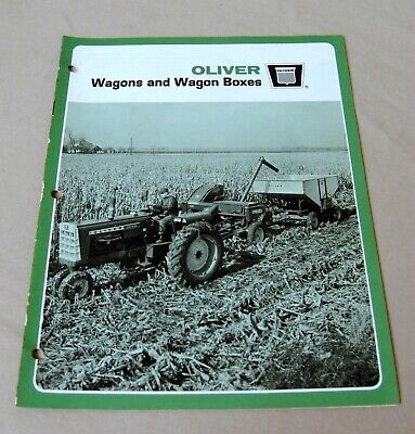 Vintage Oliver Corporation Wagons & Boxes Advertising Brochure - Ca 1960's!