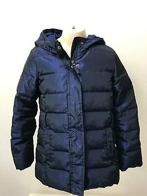 Girls Gap Kids Two Tone Blue Padded Quilted Hooded Warm Coat Jacket Kids 8-9 Yrs