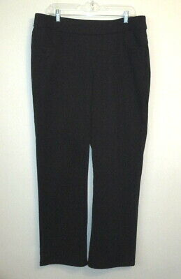 Lee Styleups Black Pull On Stretch Pants Womens Size 16 Polyester Rayon Spandex