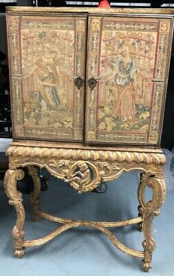 19th Century French Chinoiserie Hand Painted Armoire