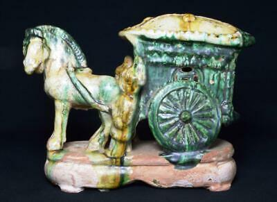 Impressive Antique Chinese Ming Dynasty 'Mingqi' Funerary Carriage c1500s
