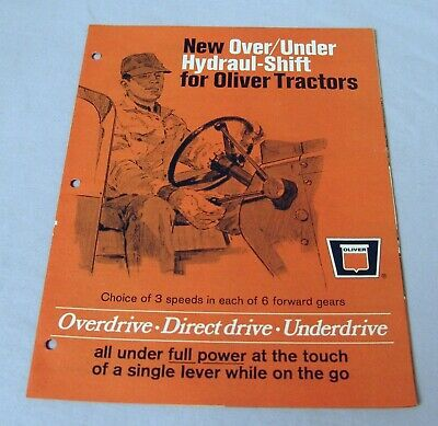 Vintage Oliver Corporation Hydraul-Shift Feature Advertising Brochure - Ca 1968!