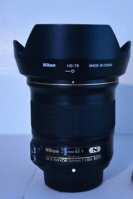 Nikon Nikkor 24mm F/1.8 G ED AF-S Lens  EXCELLENT NEAR MINT ( FREE SHIPPING )