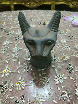 Antique PHARAONIC Ancient Egyptian Cat statue Handcarved