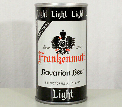 Frankenmuth Light Bavarian Bottom Opened Pull Tab Beer Can Geyer Bros. Michigan+