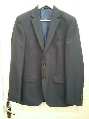 Marks and spencer Men Indigo Blue Tailored Blaer Jacket Sie 36 X Long BNwT