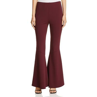 Vince Camuto Womens Purple Flare Crepe Pull On Pants XL BHFO 9219