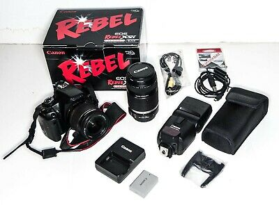 Canon EOS Rebel XSi 12.2MP DSLR  Camera Kit + efs55-250 lens + Speedlite EX430II