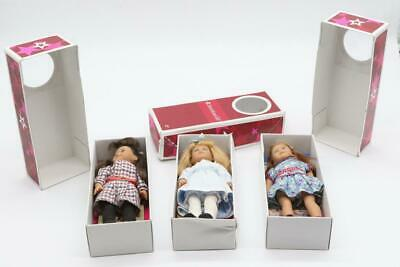3 American Girl Mini Doll *Emily, Samantha, Nellie* with Book