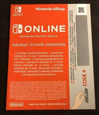 Nintendo Switch Online Subscription - 1 Year / 12 Months / 365 Days (New)
