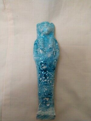 Rare Antique Statue Rare Ancient Egyptian Pharaonic Sekhmet Faience 1235 bc