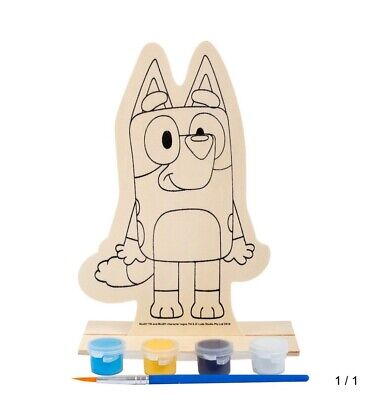 Paint Your Own Bluey Wooden Character