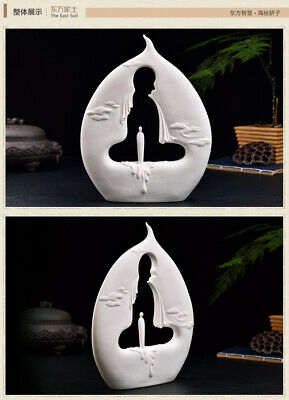 Chinese Dehua Porcelain Dripping Buddha Enlightenment Sacred Ornament God Statue
