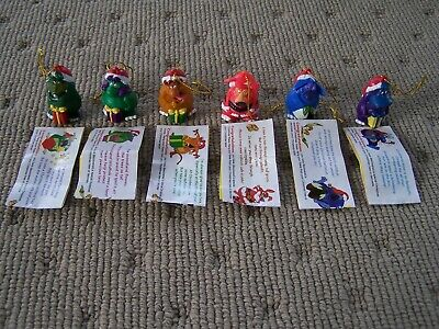 Lot Of 6 Vintage Christmas Yowies 1995 Crag Ditty Boof Rumble Nap Squish