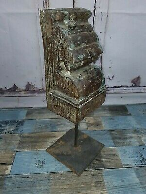 Vintage Old Antique Authentic Indian Hand Carved Architectural Carving Sculpture