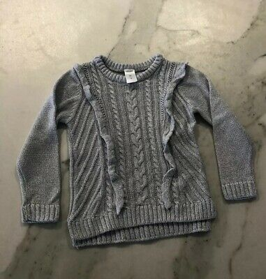 Girls Size 4 Target Silver Jumper Excellent Condition