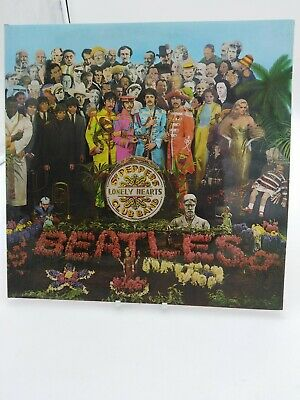 THE BEATLES-SGT PEPPER LONELY HEARTS BAND-pmc7027-parlophone-black/silver-labels