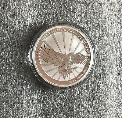 2019 Perth Mint Wedge Tailed Eagle 1oz Silver Bullion Coin from Mint Roll