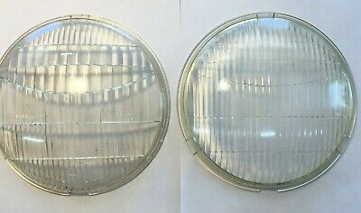 1939 Ford Deluxe Car Fluted Glass Headlight Lens Lenses with Logo /'39