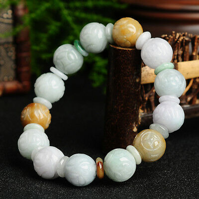 100%Natural Jade Bracelets jadeite jewelry 13mm 5A Appraisal certificate