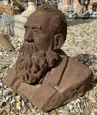 Large Cast Iron Bust of Karl Marx - Heavy - 38cm x 48cm - German Philosopher