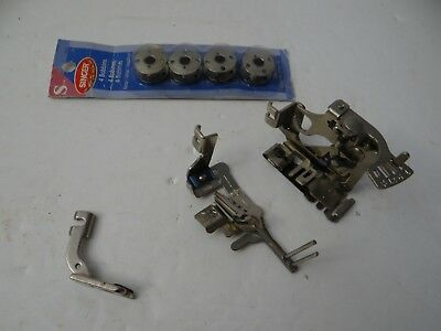 Singer Sewing Machine Lot of 3 Attachments and Metal Bobbins