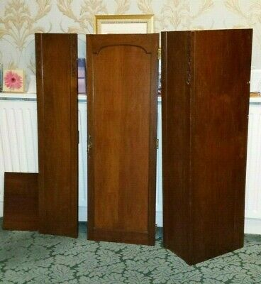 Victorian mahogany / walnut / Oak wardrobe door lock handle hinges dresser
