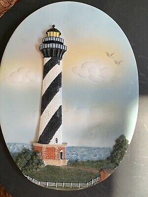 Collectible 3D Cape Hatteras, North Carolina NC Lighthouse Plaque Wall Hanging