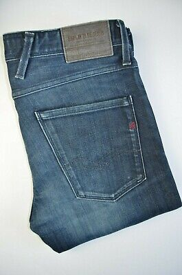 Replay Anbass slim fit cotton blend  men jeans in blue, size 31/32, VGC with log