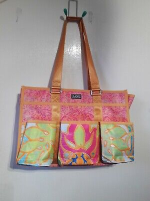 Lang Orange Pink Green Blue Multicolour Craft Essential Tote Storage Bag