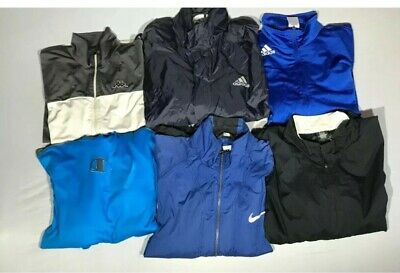 Job Lot of 6 Track Tops Shower Jackets Size XL Adidas Kappa Champion Nike used