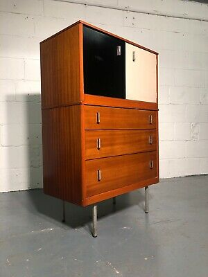 Mid Century Lebus Cupboard On Chest Of Drawers
