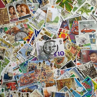 WORLDWIDE COUNTRIES: United Kingdom UK Lot + 1000 Used stamps + Mostly DIFFERENT